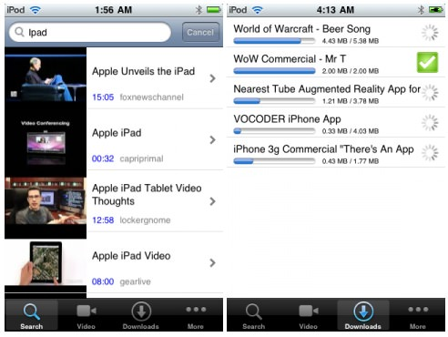download youtube videos to iphone watchmob downloader for iphone and ipod touch 16891