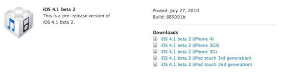 iOS4.1 beta2 Apple Drops iOS 4.1 Beta 2 For Developers