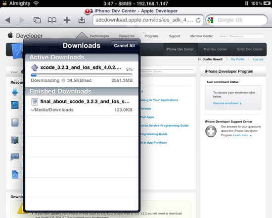 Safari Download Manager Updated For iPhone 4, iPad, And iOS 4 0