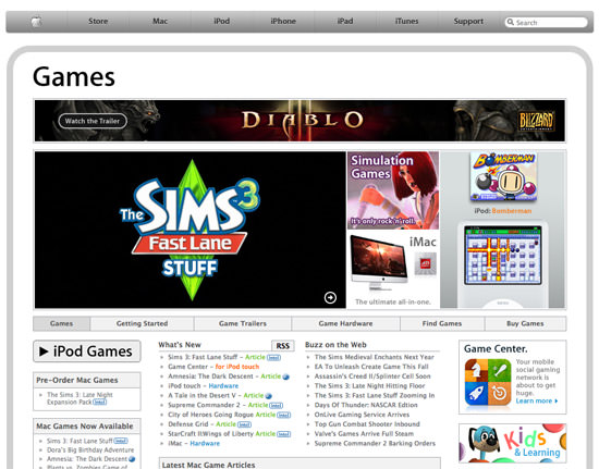 apple games Apple Launched Page Dedicated To Mac And iOS Devices Games