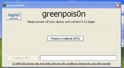 Screen shot 2010 10 12 at 6.28.38 AM 400x220 How To: Jailbreak Your iPhone, iPod Touch, iPad Using Greenpois0n