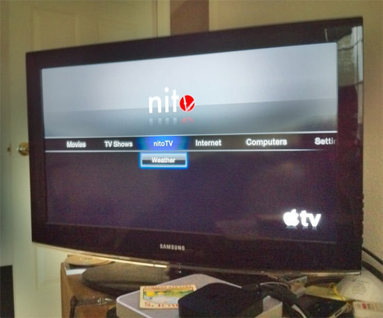 nitoTV 1 nitoTV: First App Running On The AppleTV 2G
