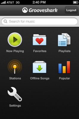 photo 2 266x400 GrooveShark For iPhone: Connect To The Worlds Music Library