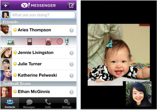 yahoo mess Yahoo! Messenger App For iPhone Updated. Added Support For Mobile To PC Video Calls