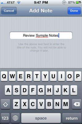 SympleNotes 1 266x400 Symple Notes: Native Feel Notes App For The iPhone, With A Social Twist...