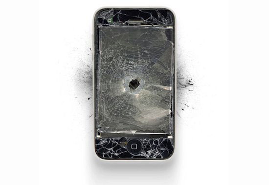 ap00 A Series Of Smashed, Mangled, Shot Up & Melted Apple Products [Pics]