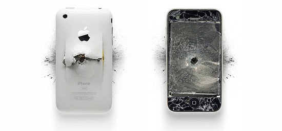 ap01 A Series Of Smashed, Mangled, Shot Up & Melted Apple Products [Pics]