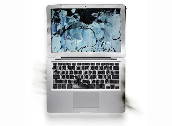 ap02 A Series Of Smashed, Mangled, Shot Up & Melted Apple Products [Pics]