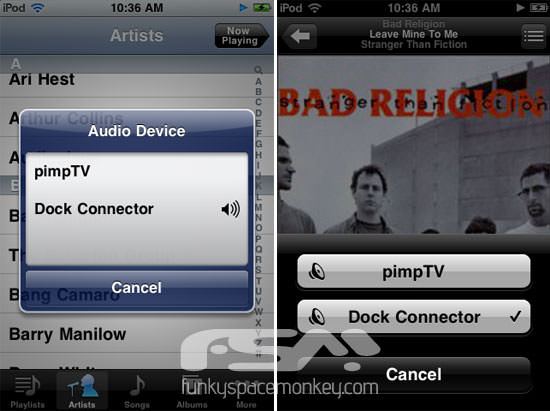 iOS 4.2 iPod New AirPlay Feature In iOS 4.2 Lets You Quickly Choose Which Speakers You Want To Connect To