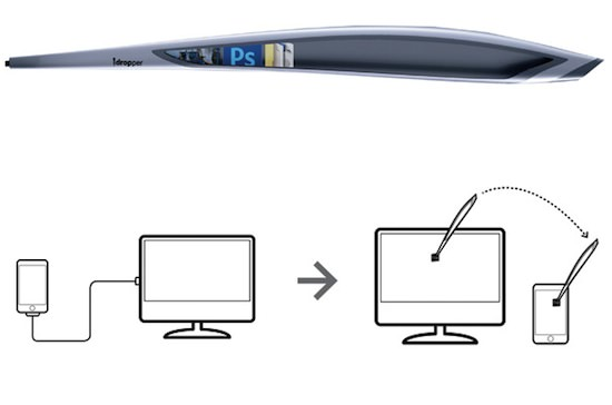 idropper5 iDropper: New Age Stylus Pen Allows You To Transfer Information Between Mobile Devices ( Awesome Concept )