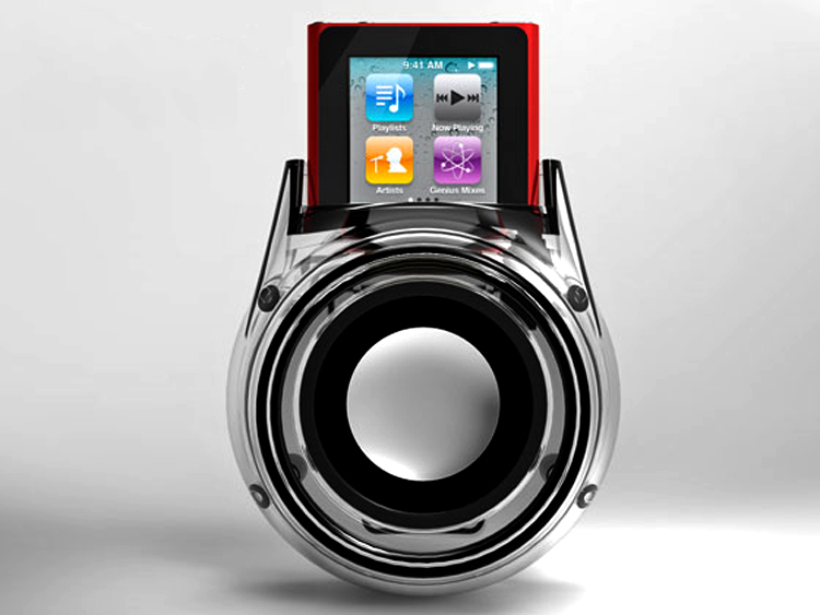 Waldok Wall Plug In Speaker And Charger For The Ipod Nano