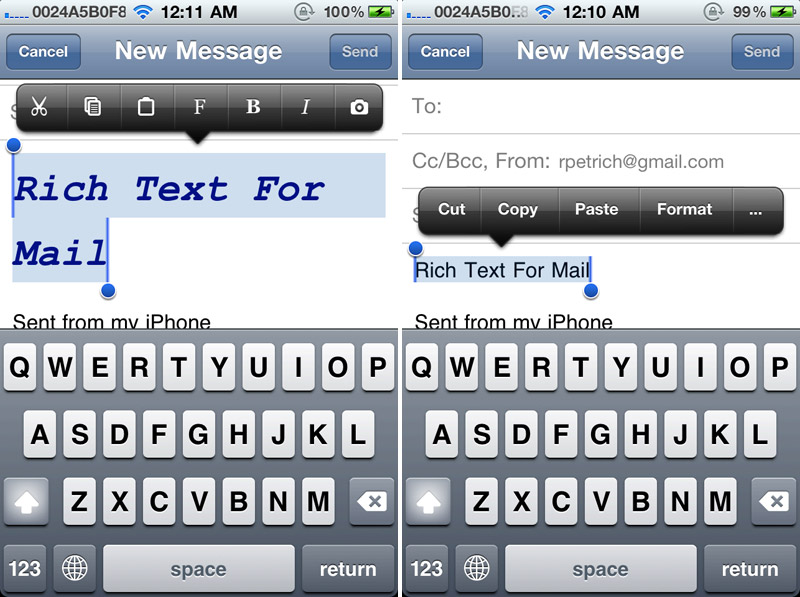 Rich Text For Mail: Format Emails With Bold, Italic, Underline