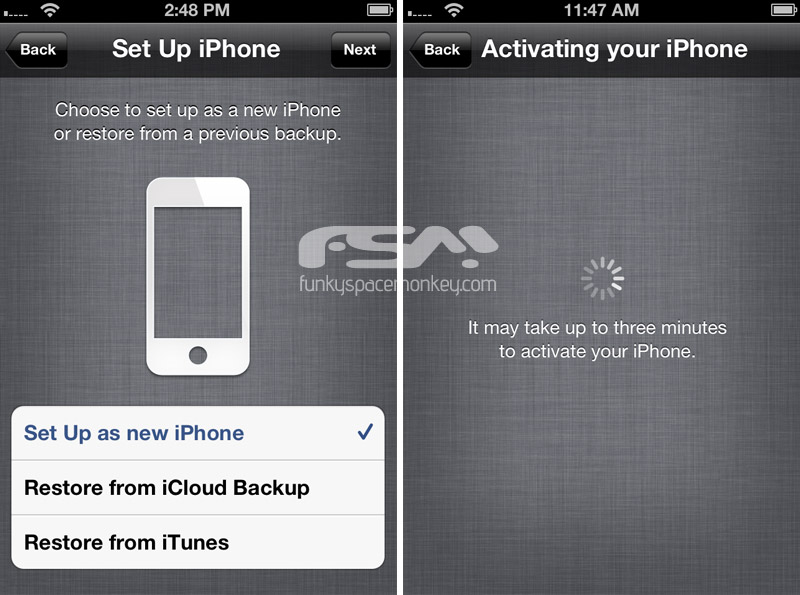 how to activate iphone 5 ios 5 wireless iphone activation 17060