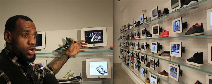 "best loved 8261e 2d876 LeBron James Installs An iPad Kiosk For Each Sneaker At His New ""Unknwn"" Retail  Store"