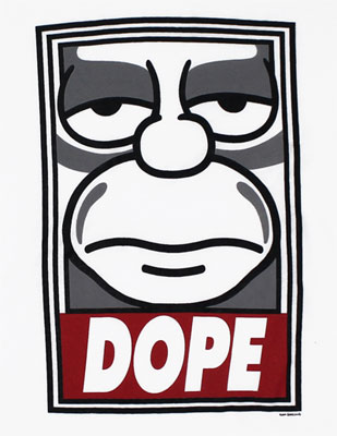 shepard fairey x the simpsons �dope� poster amp iphone case