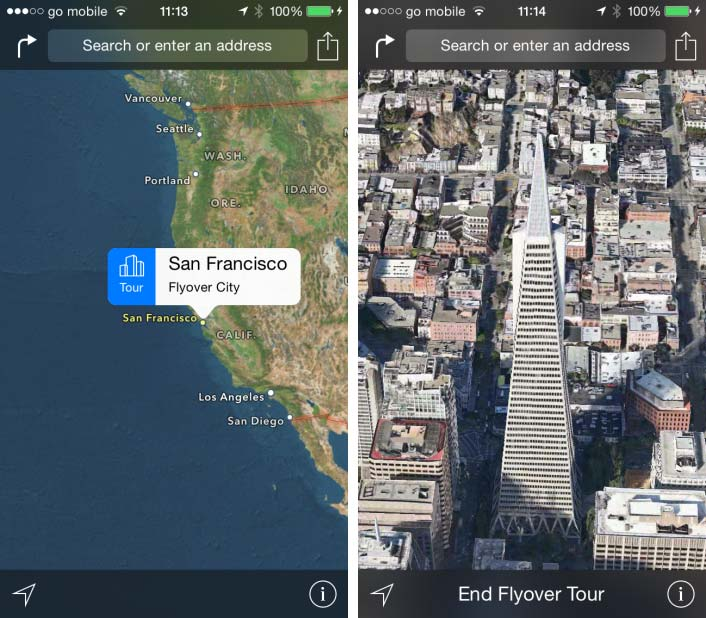 Os X Yosemite Wwdc2014 Apple Announces Ios 8 Os X: Check Out A Preview Of The 'Flyover City Tours' Feature In
