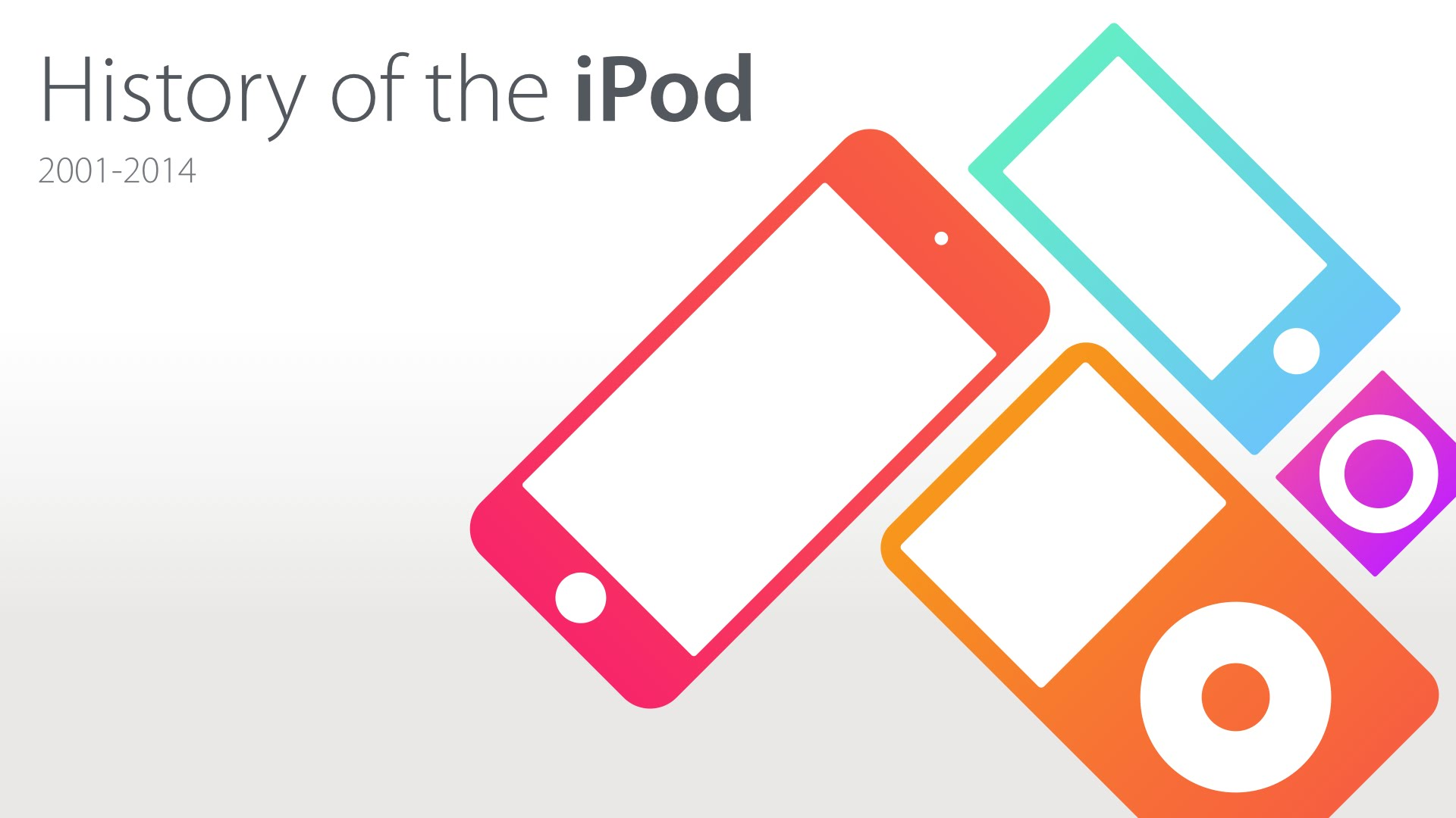 a history of ipod The history of itunes begins in 2001 and continues to the present initially conceived as a simple music player, over time itunes developed into a sophisticated.