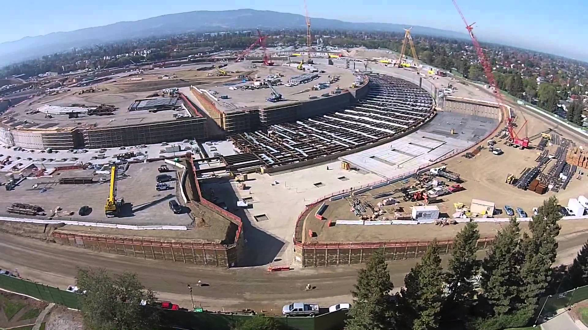 New Drone Flight Video Shows Apple Campus 2 Construction